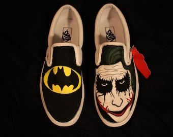 1007e2c5f5d7 Hand Painted Batman and Joker Shoes