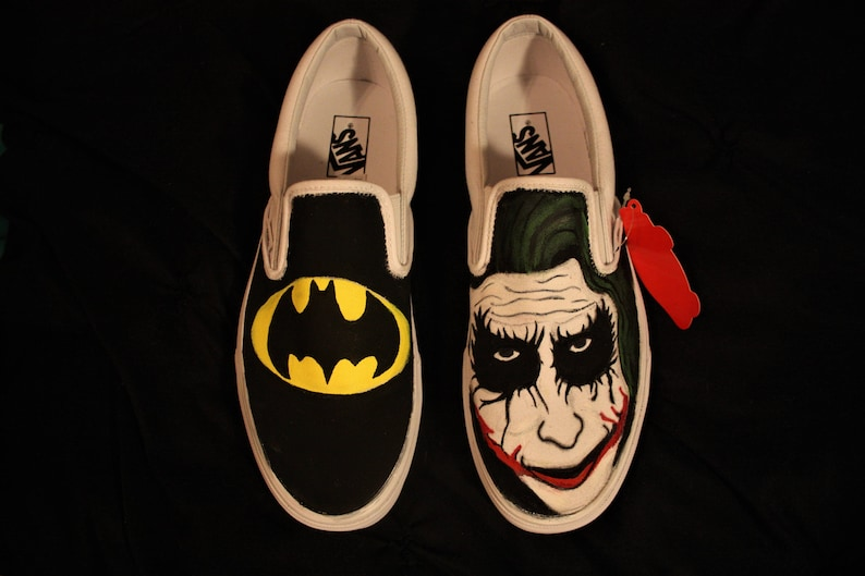 fac95bce21db Hand Painted Batman and Joker Shoes