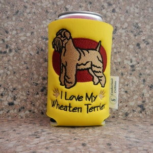 I Love My Poodle Embroidered Can Cooler Can Sleeve Gifts Under 10 Embroidery Dog Lover