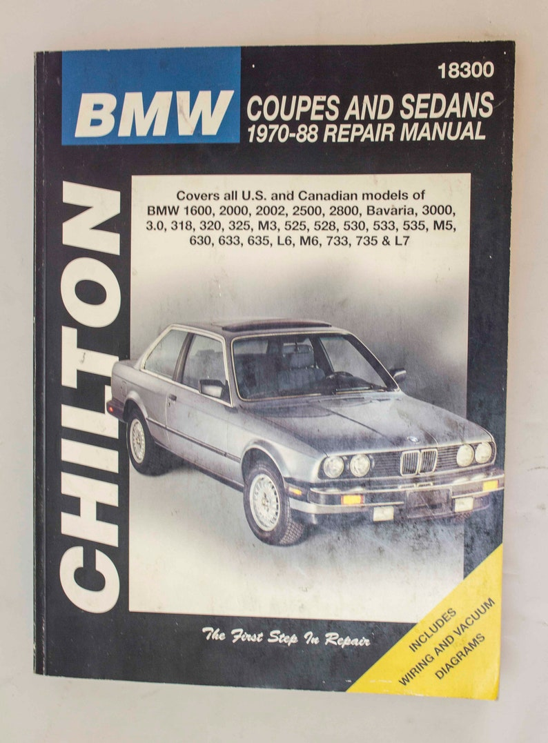 Groovy Bmw Coupes And Sedans 1970 88 Repair Manual Chilton Etsy Wiring Digital Resources Inklcompassionincorg
