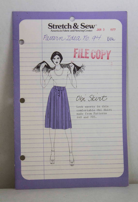 Stretch Sew Pattern Ideas Obi Skirt From Pattern 440 And Etsy