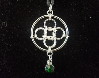 Handmade Celtic Style Chainmaille Necklace
