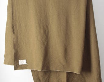 vintage MILITARY issue mid-century large WOOL authentic vintage olive green blanket