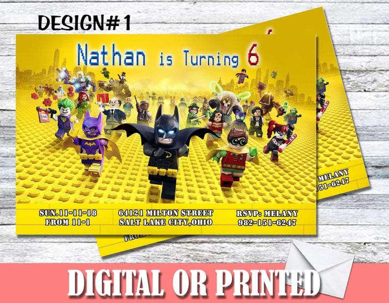 Lego Batman Movie Personalized Birthday Invitations MORE