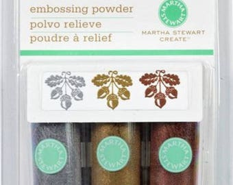 Martha Stewart Crafts  Embossing Powder    Metallic   Set of 3
