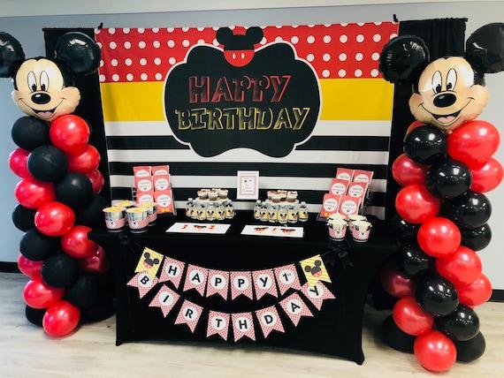 Baby Mickey Maus Banner 1 Geburtstag Hintergrund Bunt Baby Etsy