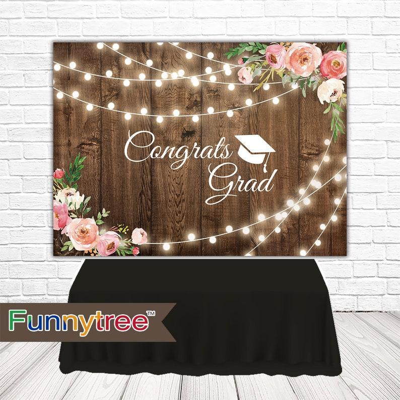 Graduation Backdrop: Graduation Party Backdrop Class Of 2019 Backdrop Congrats