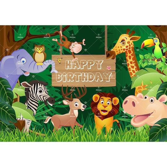 jungle safari theme forest cartoon birthday photography etsy