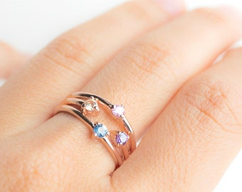 Mothers ring etsy mothers birthstone ring aloadofball Images