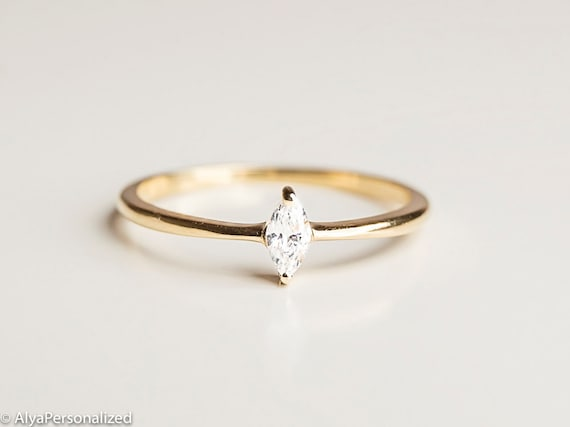 Marquise Cut Engagement Ring Marquise Diamond Ring 14k Etsy