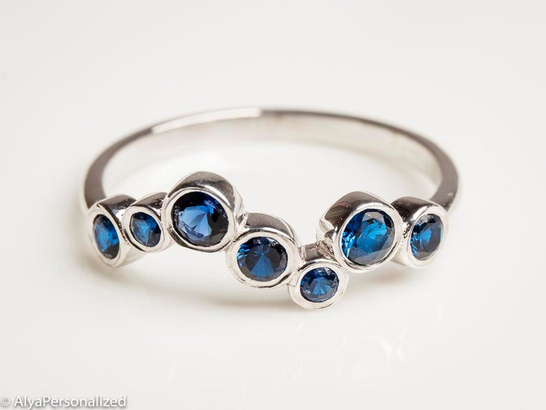 Sapphire Jewelry  Birthstone Jewelry  Gemstone Ring  Unique image 0