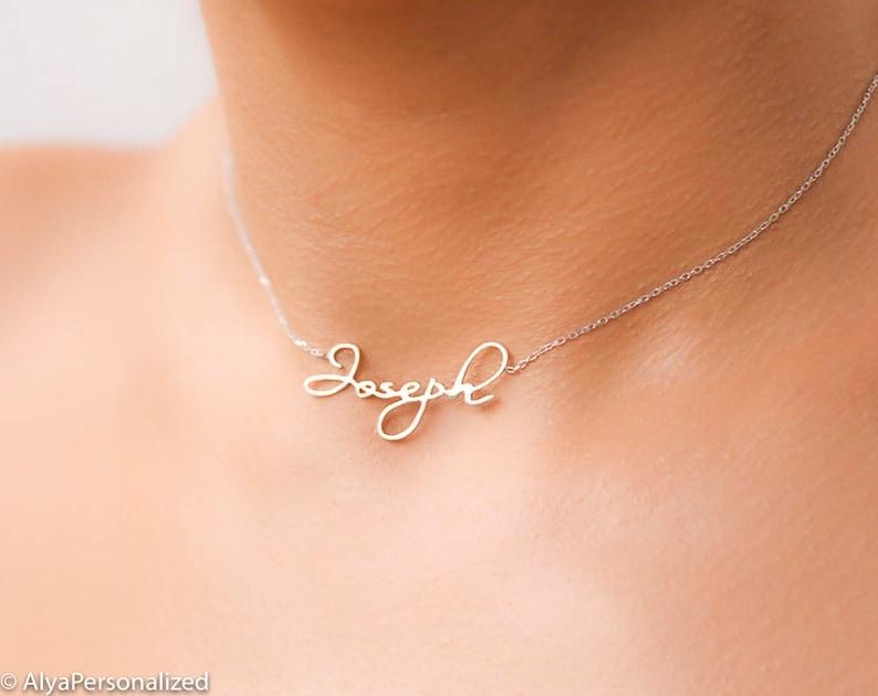 Geliefde Aangepaste naam ketting zilver-Chokers voor vrouwen | Etsy #MN11