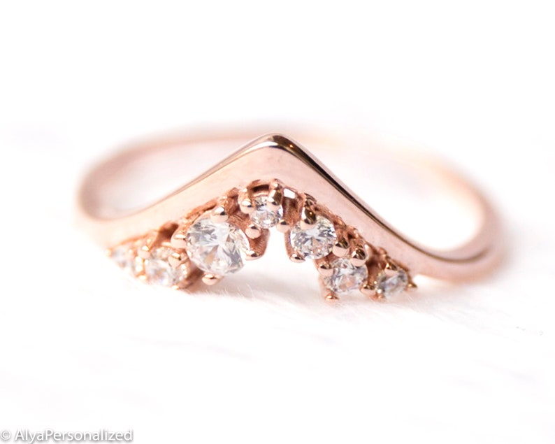 Unique Wedding Bands For Women.Wedding Bands For Women Rose Gold Womens Diamond Wedding Band Wedding Ring Stackable Rings For Women