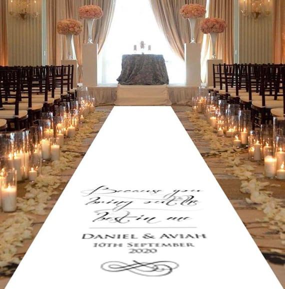 Aisle Runner Wedding Decorations White Wedding Aisle Runner Etsy