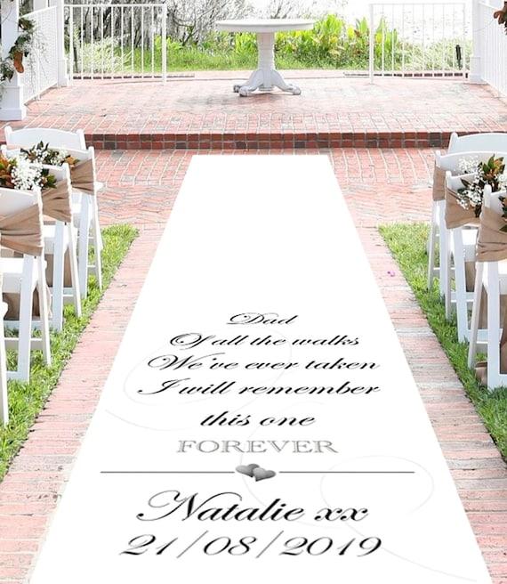 Personalisierte Hochzeit Gang Runner Walk Of Love Etsy