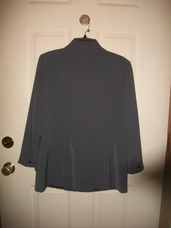 Vintage 80's, 90's Gray Pant Suit  Size 8, Vintag… - image 8