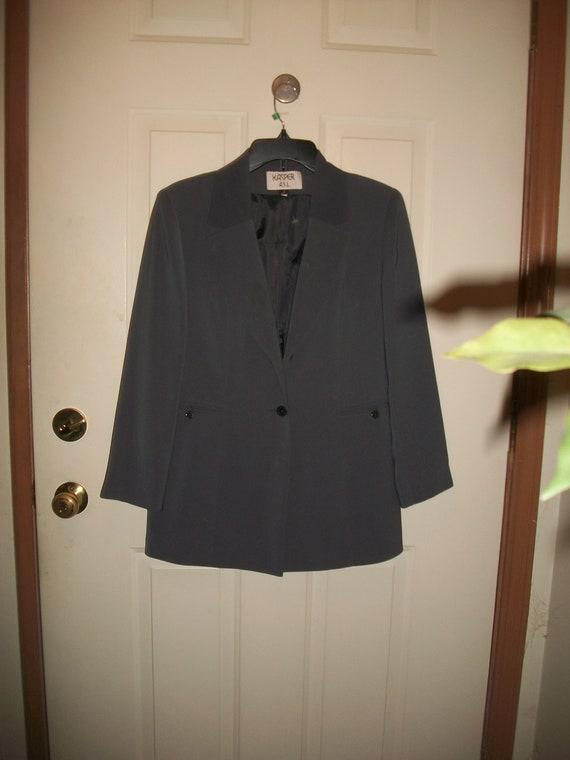 Vintage 80's, 90's Gray Pant Suit  Size 8, Vintag… - image 1
