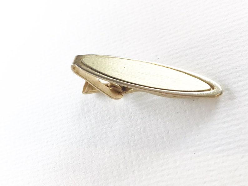 Vintage 1.75 Inch Gold Tone Tie Clip Free Shipping