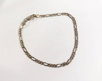 Vintage 925 Silver Chain Bracelet Marked India