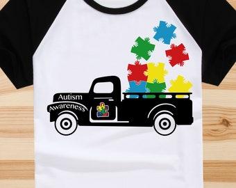 Autism Awareness svg, Autism Puzzle Pieces,  Cricut file, Silhouette file, Vinyl cut, Shirt print, Iron on decal, Digital, dxf, pdf
