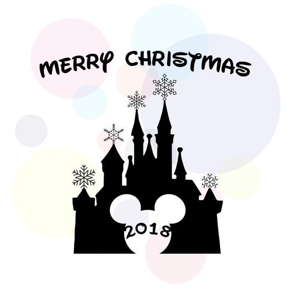 Disney Castle Christmas Svg.Merry Christmas 2018svg Disney Castle Svg Mickey Mouse Snowflakes Svg Christmas Clipart Xmas Svg Printable Clipart Shirt Print