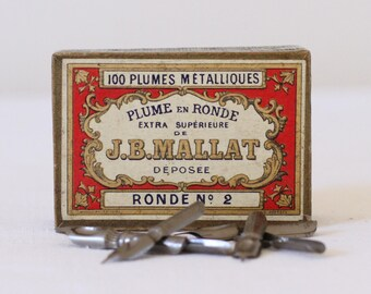 Box of French vintage pen nibs - J.B. Mallat