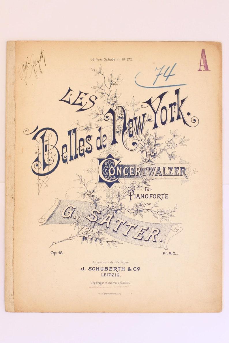 German sheet music  Les Belles de New York image 0