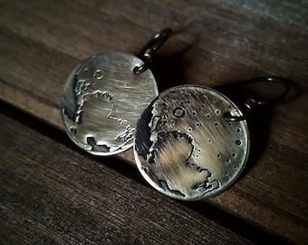 Pluto Earrings - Brass