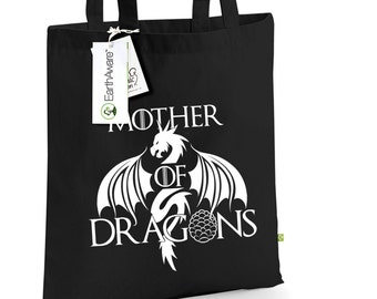 Mother of Dragons Tote Bag, Game of Thrones, 100% Organic Cotton Canvas, Khaleesi Bag TS1008