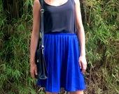 Vintage pleated mini skirt UK 10 - 12