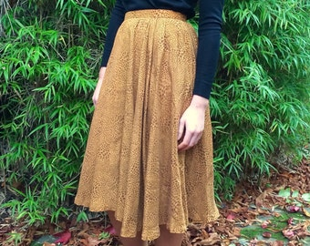 Vintage Balenciaga Silk leopard Print Skirt Size 6 - 8