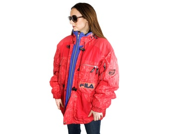faee098a9a65 RARE Vintage 90s Fila unisex ski jacket MEDIUM