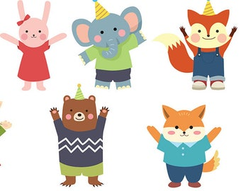 Cute Animal Party Friends