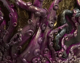 "Polymer Clay Altered Glass Bottle - ""Kraken Venom"""