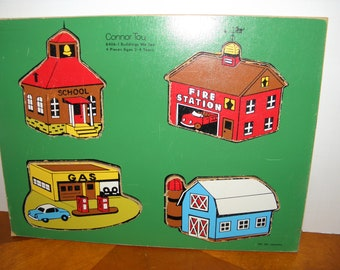 Buildings We See Wooden Puzzle