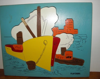 Boats Wooden Puzzle