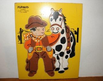 Cowboy Wooden Puzzle