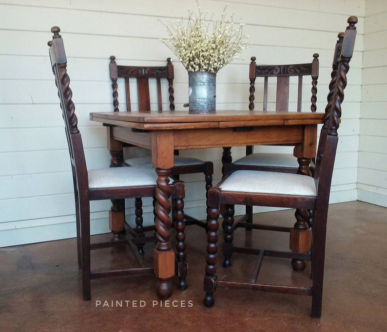 Fine Barley Twist Table And Chairs Farmhouse Table Antique Dining Set Pabps2019 Chair Design Images Pabps2019Com