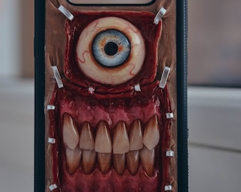 Example all Iphone, Samsung S9, S8, S8+,hard case, hand sculpted, OOAK (one of a kind)