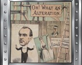 Antique theatre music sheet signed by r Charles Coburn - oh what an alteration