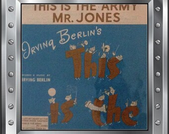 Vintage circa 1942 sheet music- I left my heart at the canteen door - from Irvin Berlins - This Is The Army