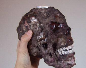 Candle holder skull dead skull candle head tea macabre Blood