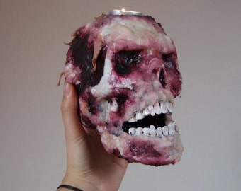 Skull Candle Holder skull bloody macabre Gothic