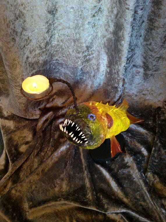 Monkfish Anglerfish Candlestick Candle Holder Tealightholder Etsy