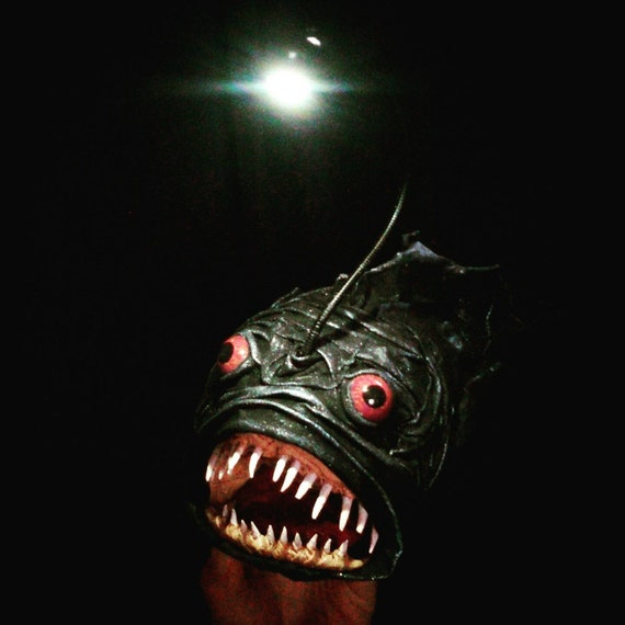 Anglerfisch Schwarz Mit Led Lampe Akku Mikro Usb Anschluss Etsy