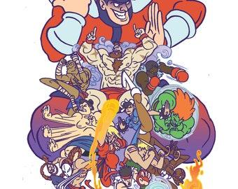 Street Fighter Classic Print