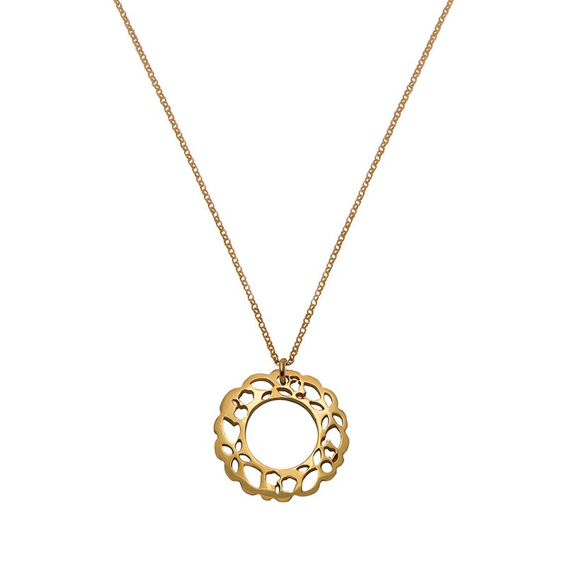 Handmade silver 18kts gold plated necklace, pendant MADDALENA