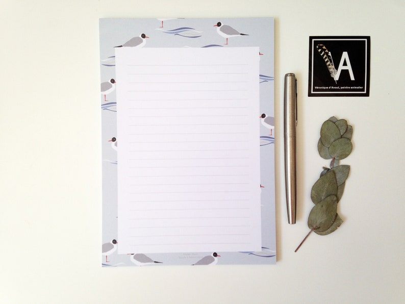 Seagull stationery watercolour stationery small gift bird image 0
