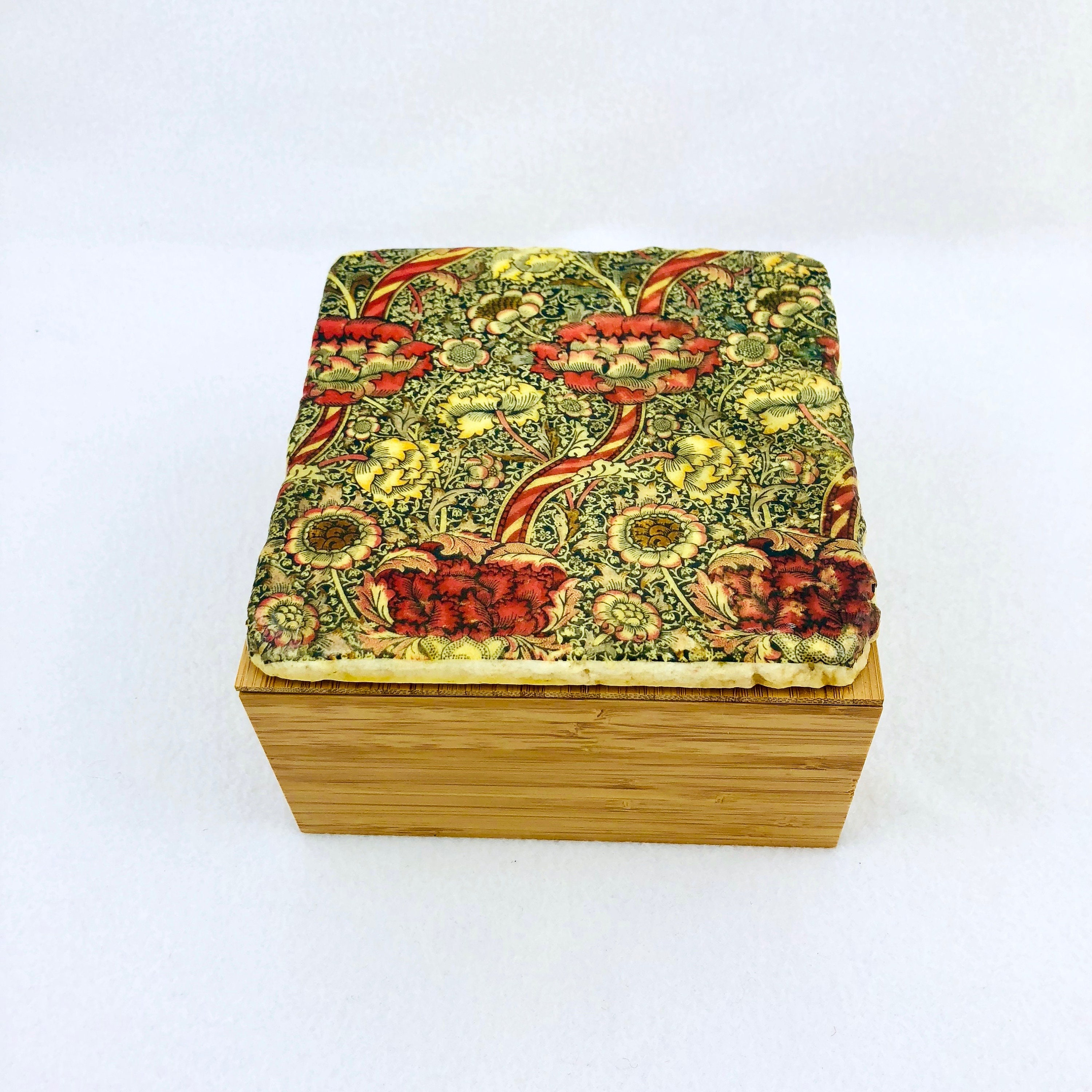 Simple Bamboo Box With With William Morris Wandle Etsy