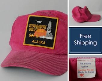 8ad2518a2080e Vintage Alaksa Hat Snapback Snap Back Trucker Oil Field Kuparuk - 80 s Retro